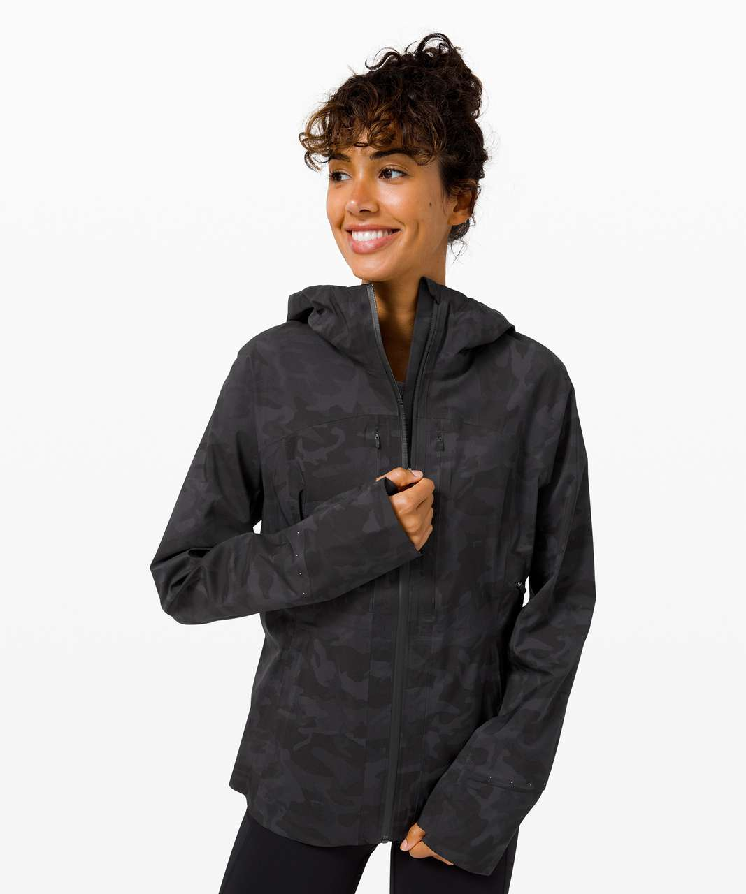 Lululemon Break a Trail Jacket - Incognito Camo Multi Grey