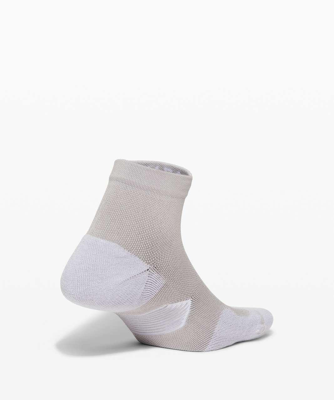Lululemon Speed Ankle Sock *Silver - Stargaze / White