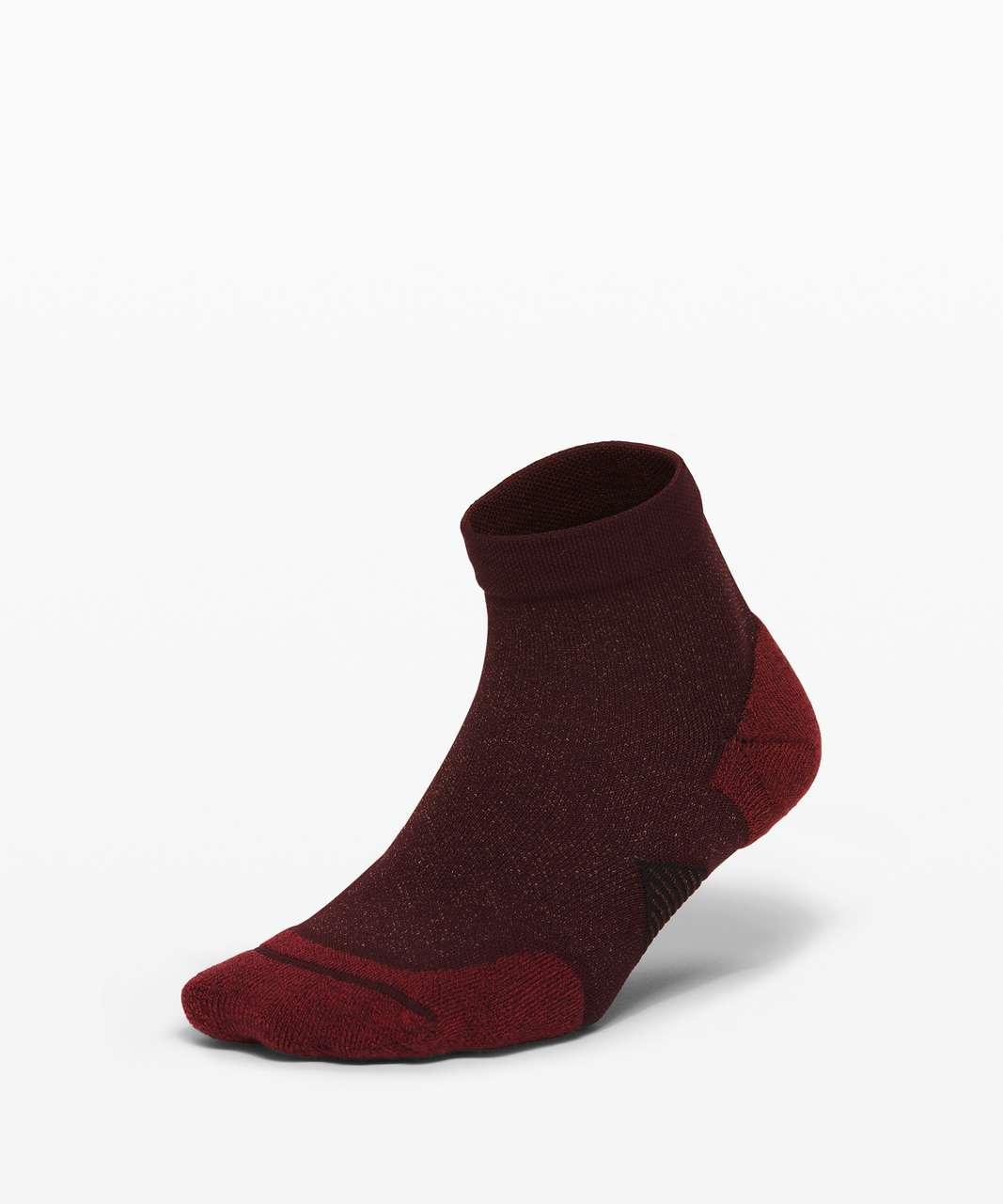 Lululemon Speed Ankle Sock *Silver - Cassis / Chianti