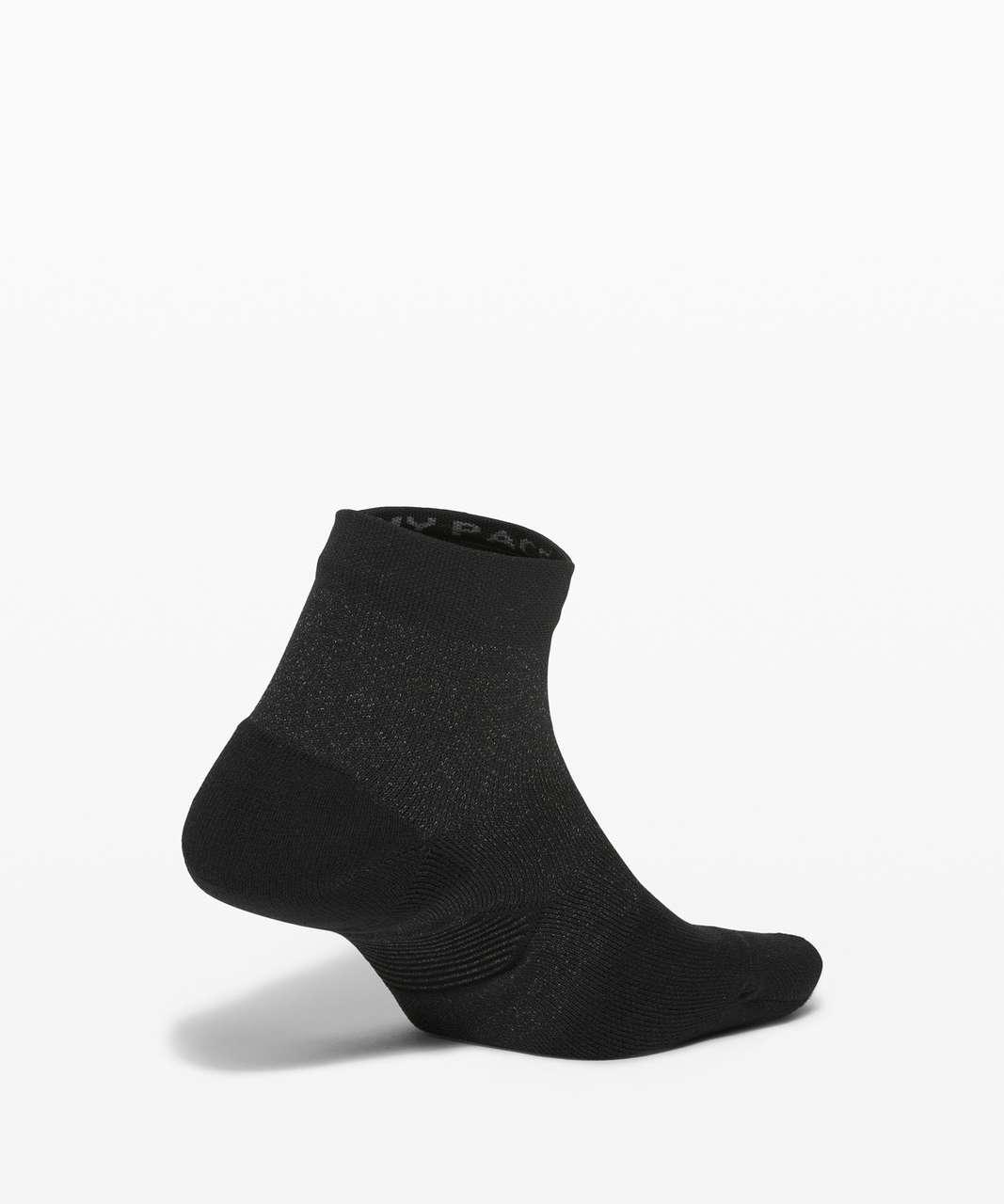Lululemon Speed Ankle Sock *Silver - Black
