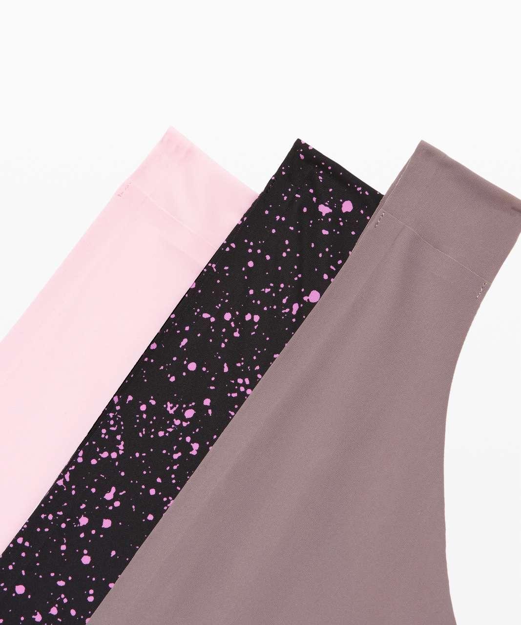Lululemon Namastay Put Thong 3 Pack - Blissful Pink / Sea Spray Invert Magenta Glow Black / Lunar Rock