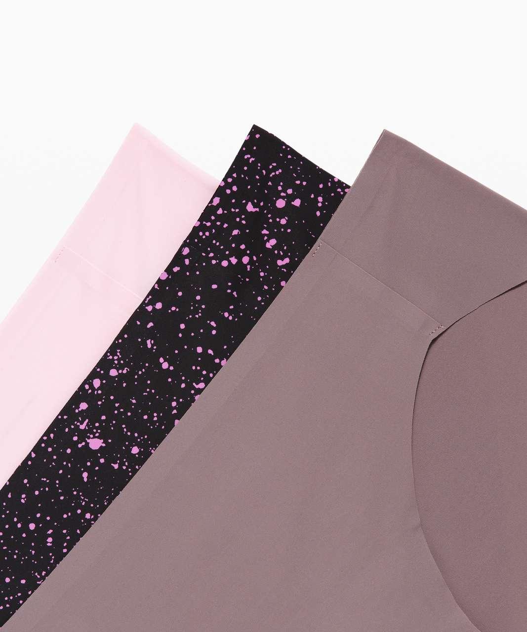 Lululemon Namastay Put Hipster 3 Pack - Blissful Pink / Sea Spray Invert Magenta Glow Black / Lunar Rock