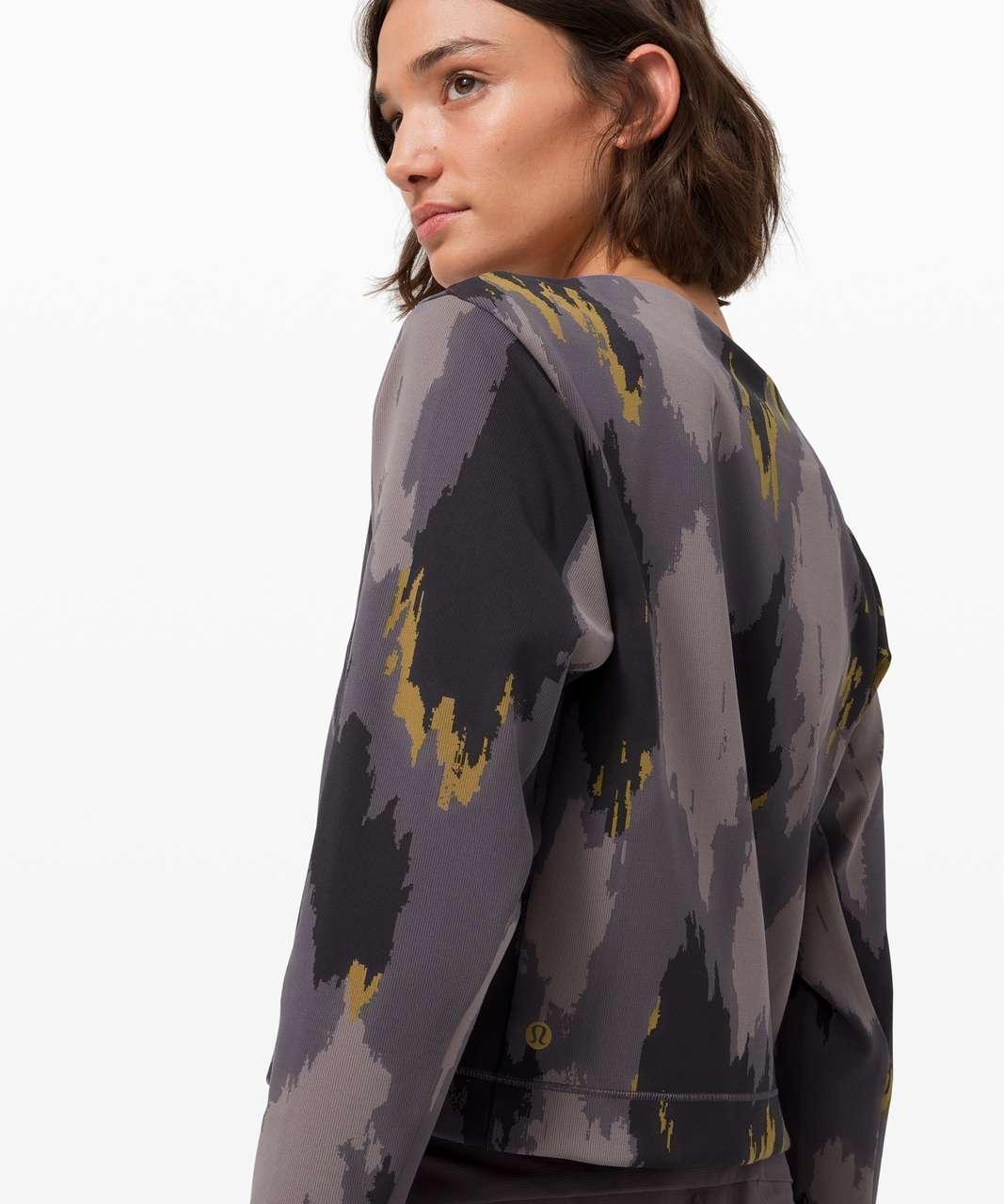 Lululemon Take The Moment Long Sleeve Sweatshirt *lululemon x Robert Geller - Distressed Camo Jacquard Moonphase Camel