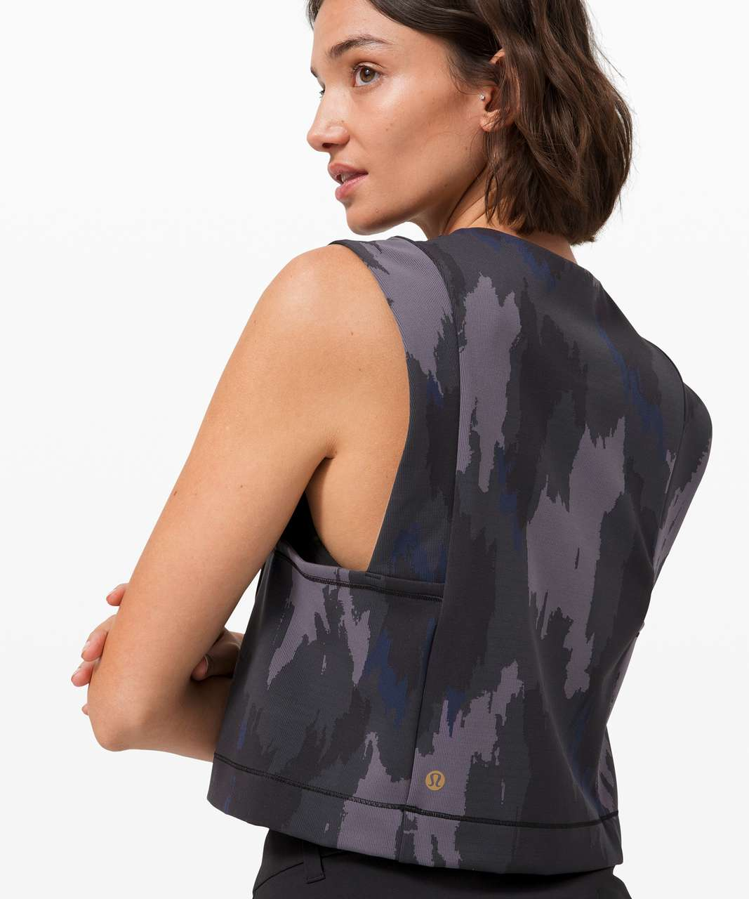 Lululemon Take The Moment Cropped Tank *lululemon x Robert Geller - Distressed Camo Jacquard Super Dark Inkwell
