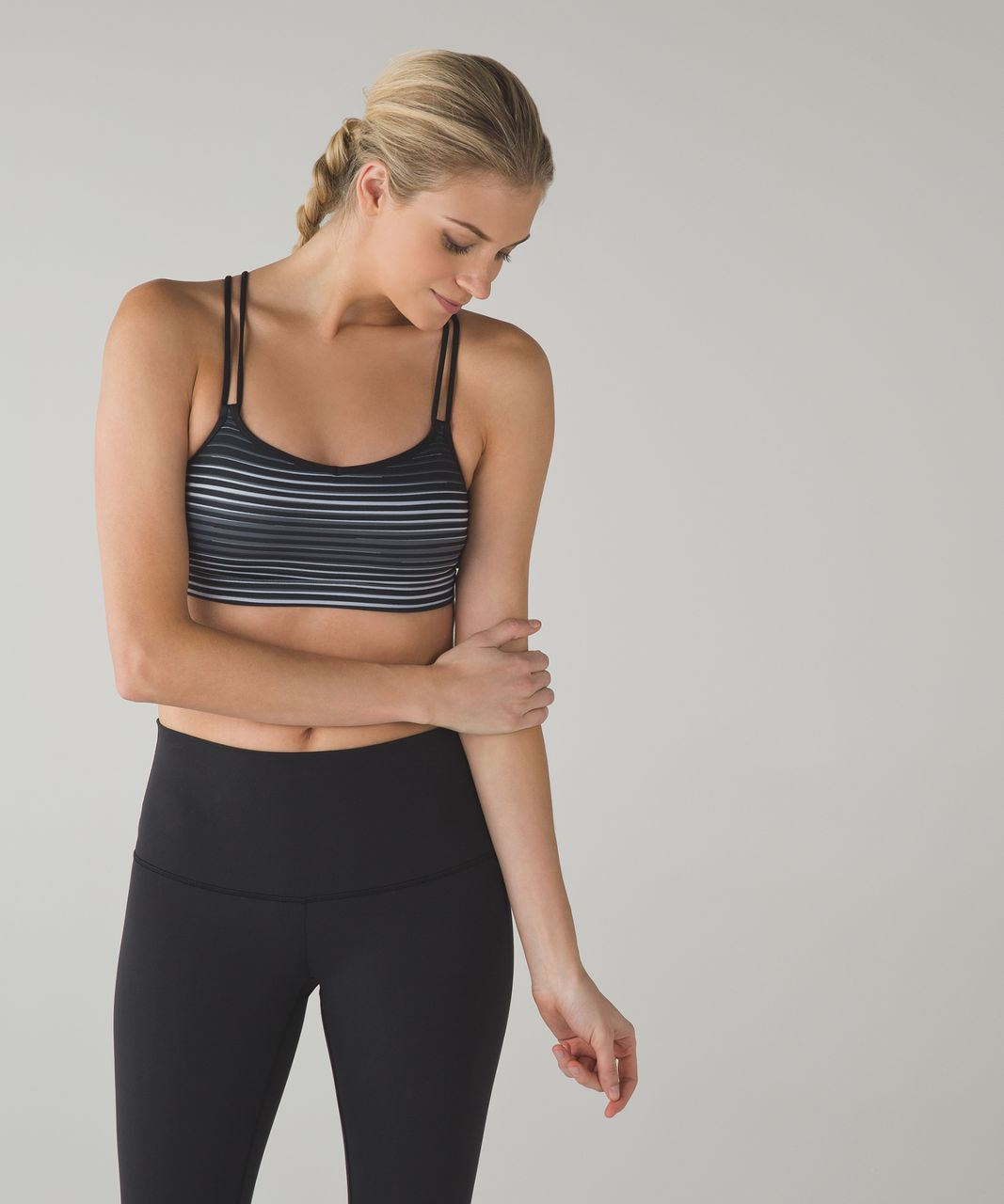 Lululemon Make A Move Bra - Twisted Dune Silver Fox Black / Black
