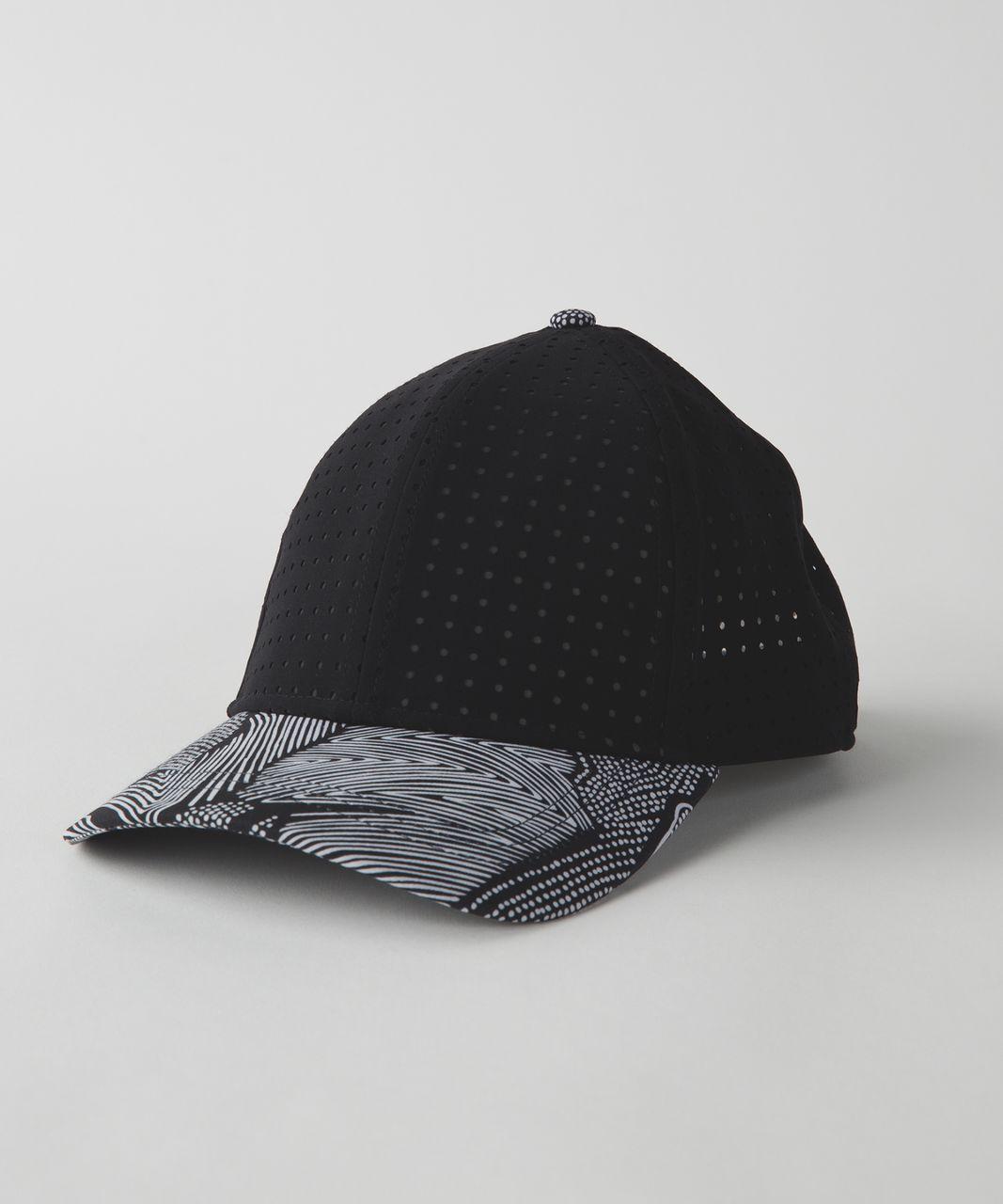 Lululemon Baller Hat (Perforated) - Black   Dottie Tribe White Black ... 121643904b6