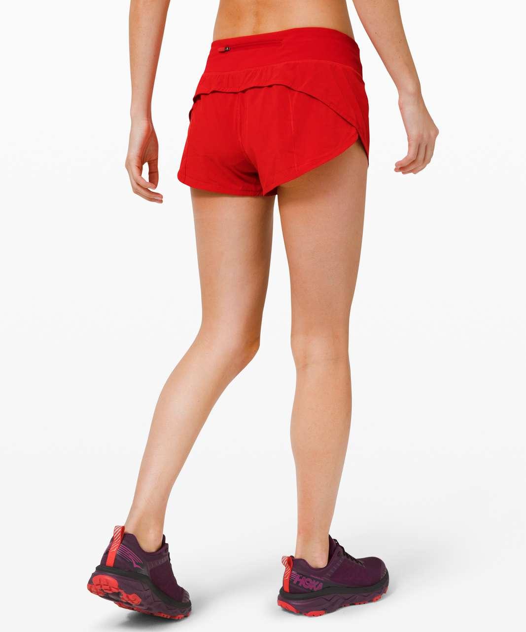 "Lululemon Speed Up Short *2.5"" - Dark Red"