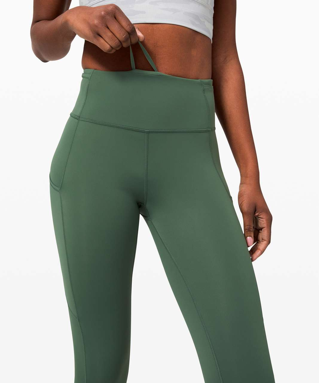 """Lululemon Fast and Free Tight II 25"""" *Non-Reflective Nulux - Algae Green"""