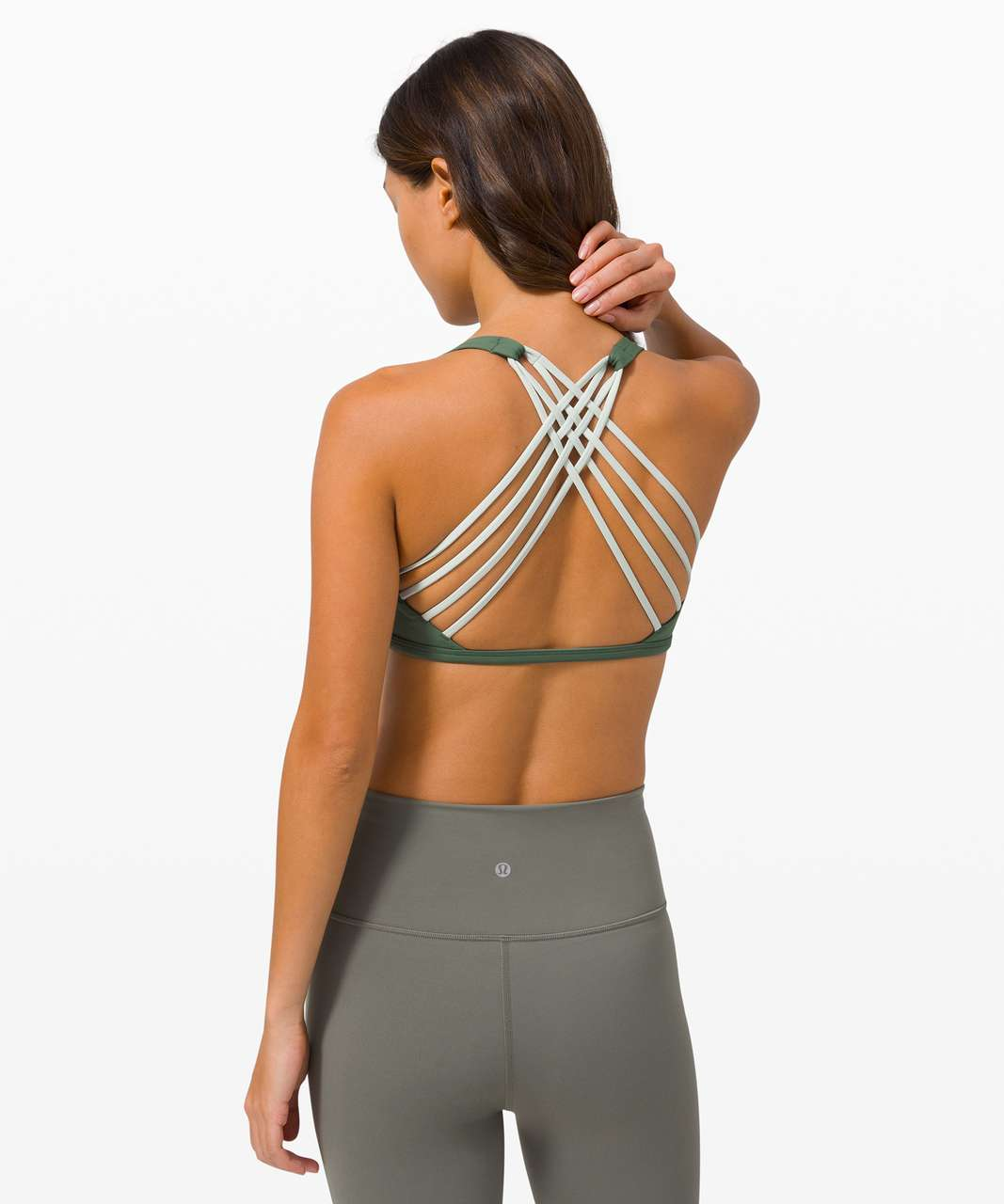 Lululemon Free To Be Bra Wild *Light Support, A/B Cup - Algae Green / Springtime