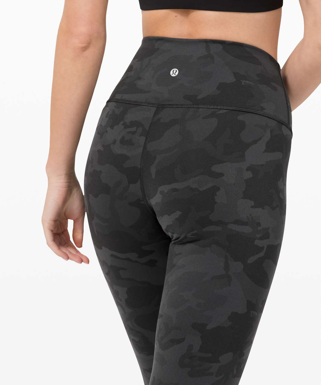 """Lululemon Wunder Under High-Rise Tight 25"""" *Full-On Luon - Incognito Camo Multi Grey"""