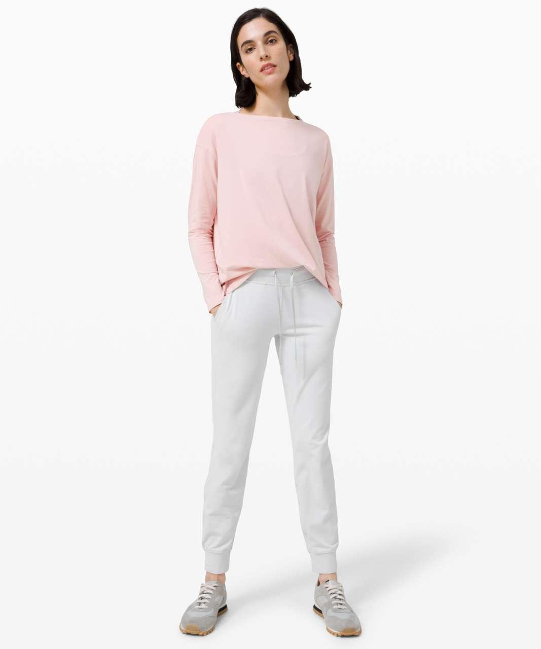 Lululemon Back In Action Long Sleeve - Porcelain Pink