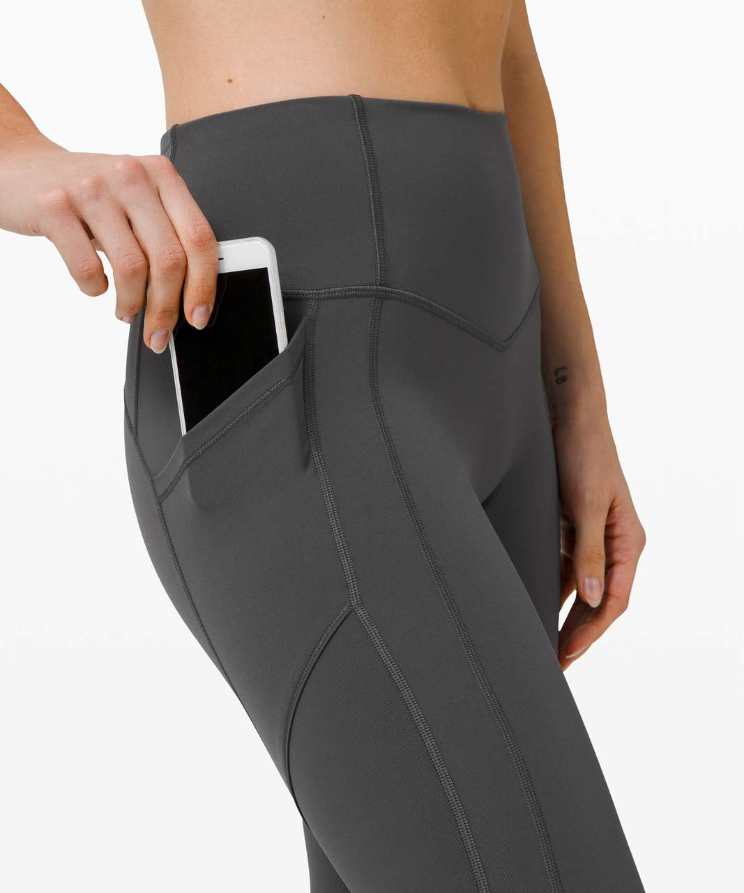 """Lululemon All The Right Places Crop II *23"""" - Graphite Grey"""
