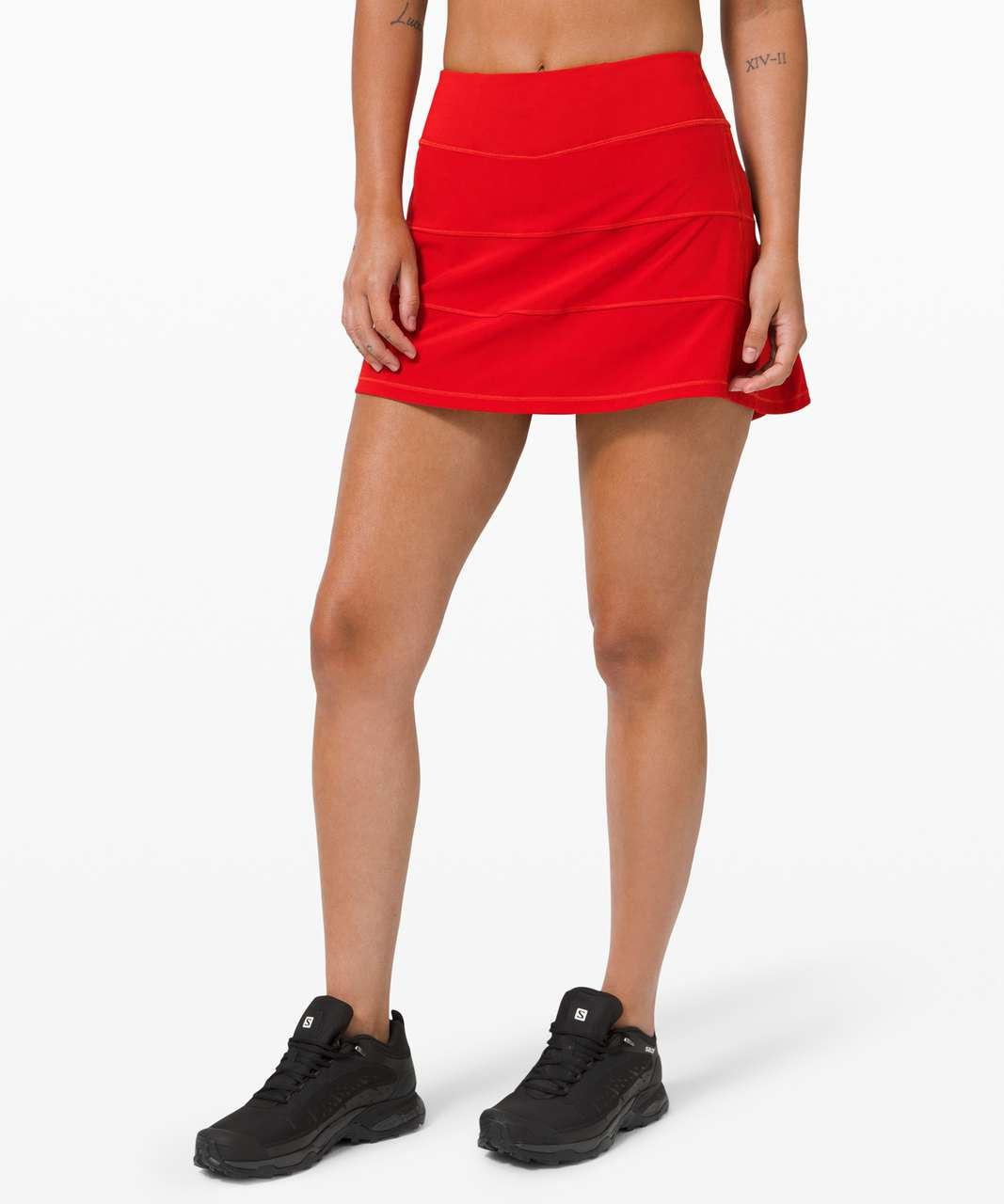 """Lululemon Pace Rival Skirt (Tall) *4-way Stretch 15"""" - Dark Red"""