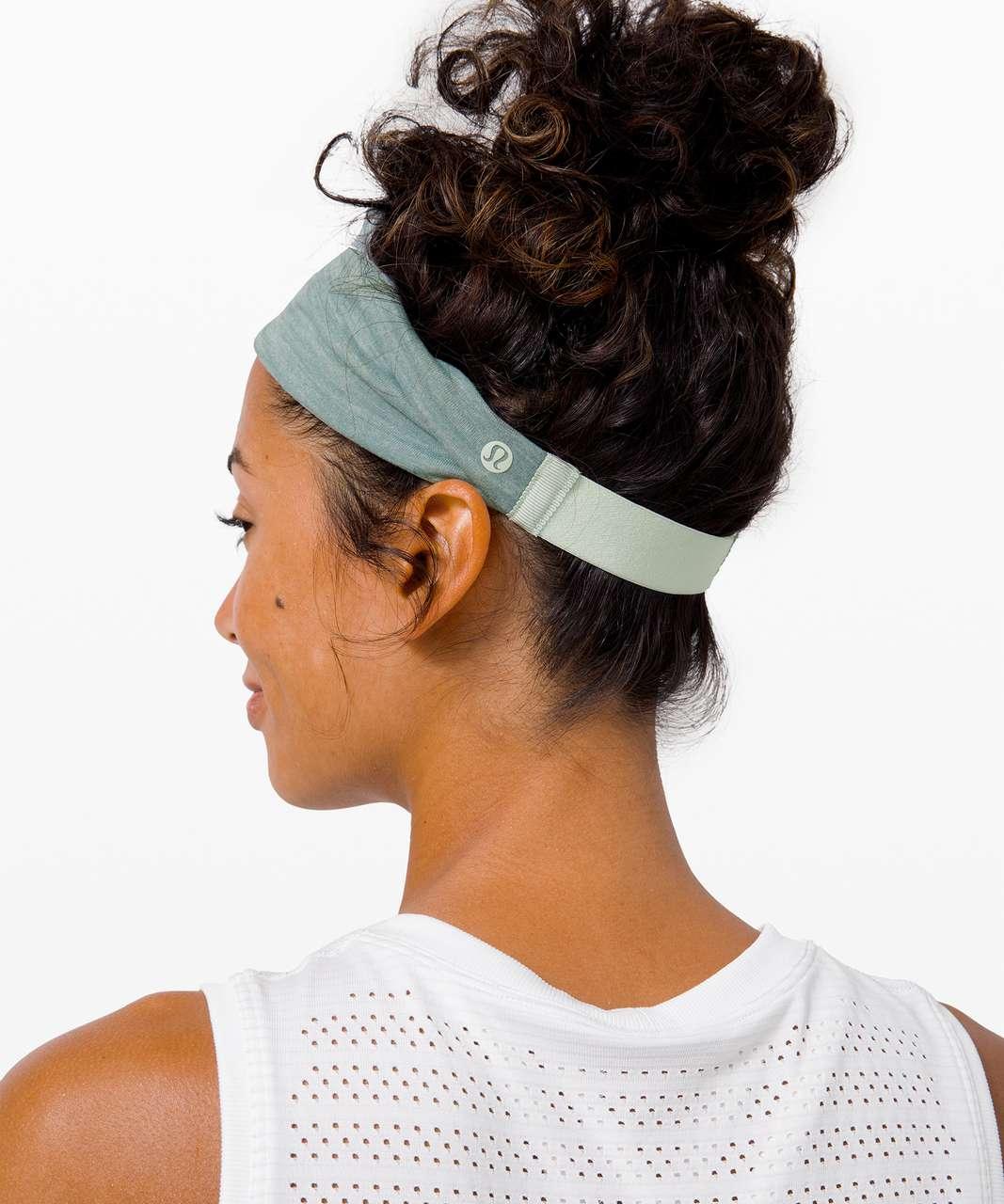 Lululemon Fringe Fighter Headband - Springtime / Heathered Tidewater Teal