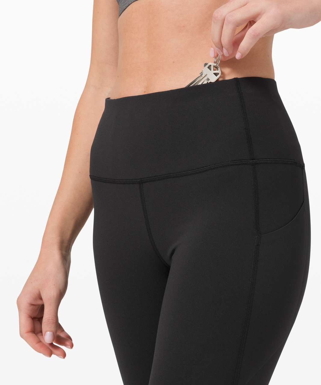 "Lululemon Pace Rival High-Rise Crop 22"" - Black"