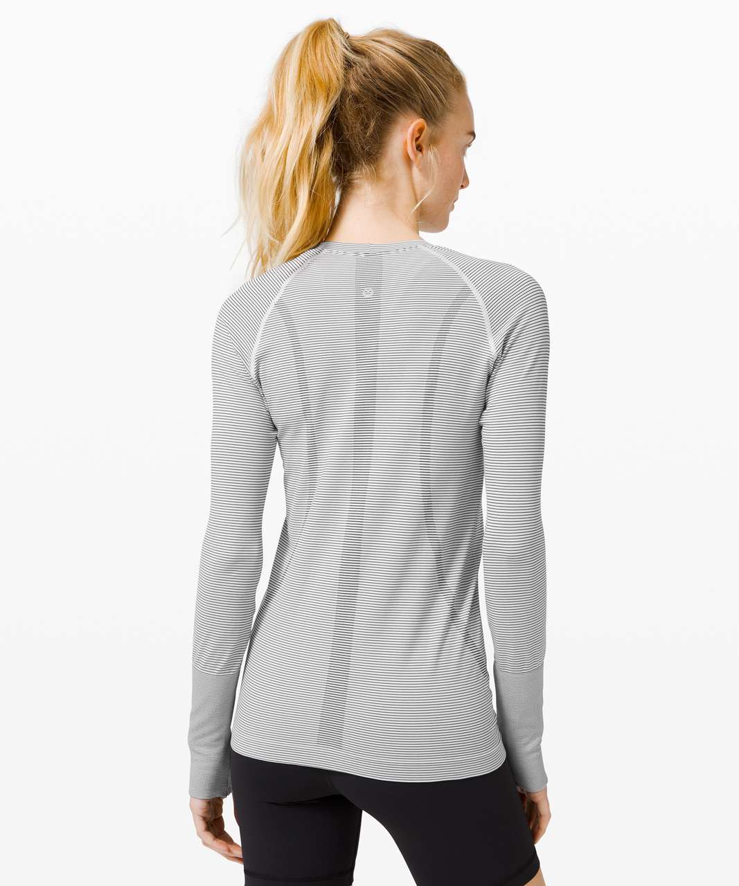 Lululemon Swiftly Tech Long Sleeve 2.0 - Tempo Stripe White Black