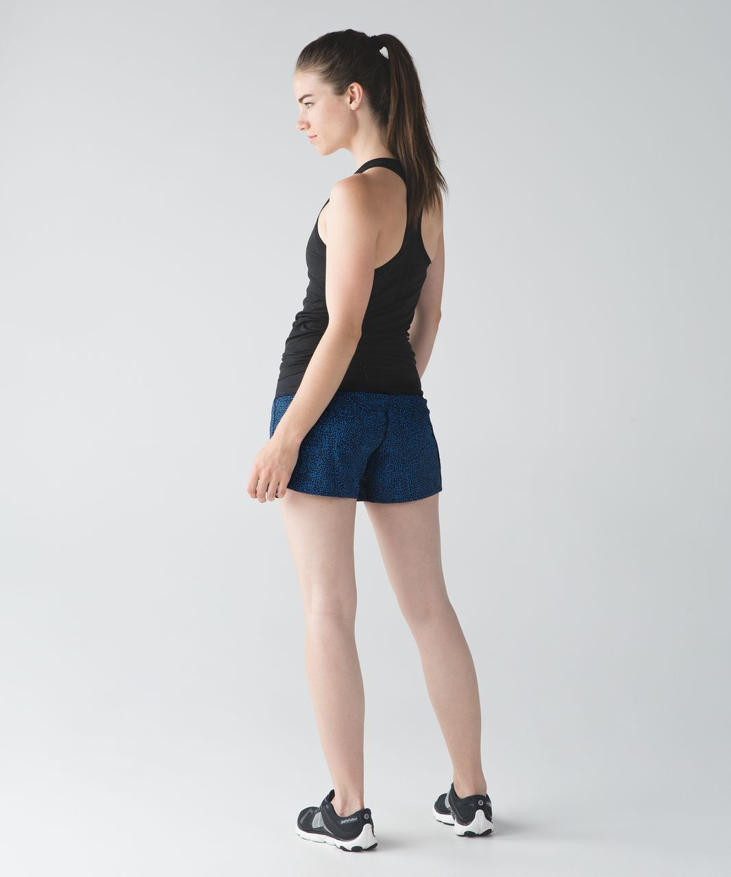 Lululemon Run Times Short - Bubbles Pipe Dream Blue Black / Black