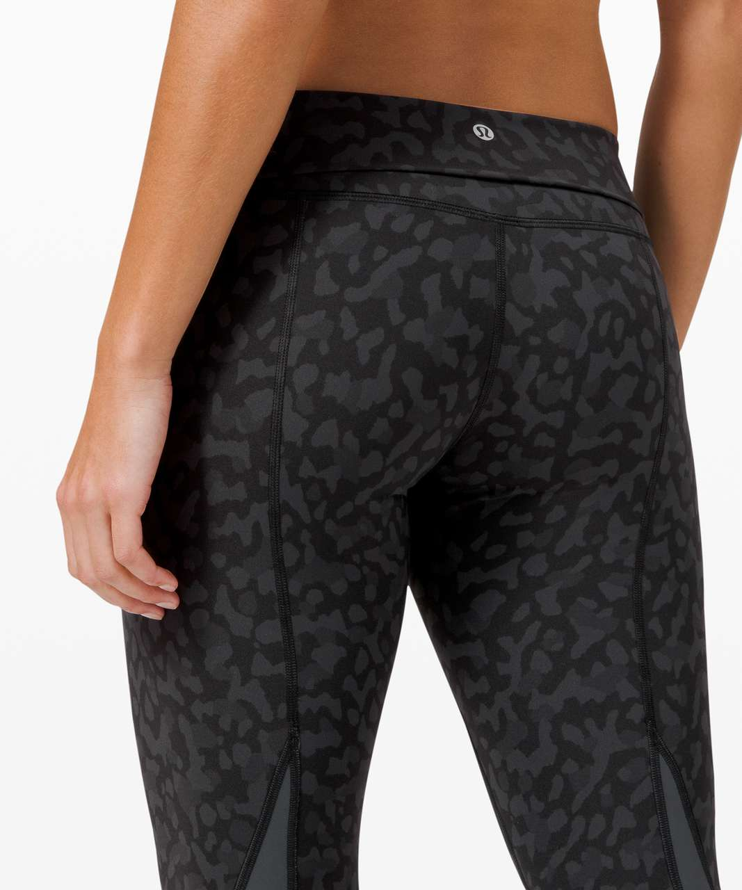 "Lululemon Wunder Under Crop High-Rise *Roll Down Scallop Full-On Luxtreme 23"" - Formation Camo Deep Coal Multi  / Deep Coal"