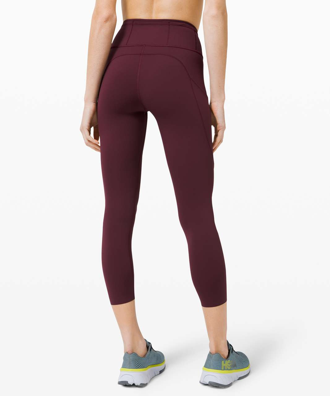 """Lululemon Fast and Free High-Rise Crop II 23"""" *Non-Reflective - Cassis"""