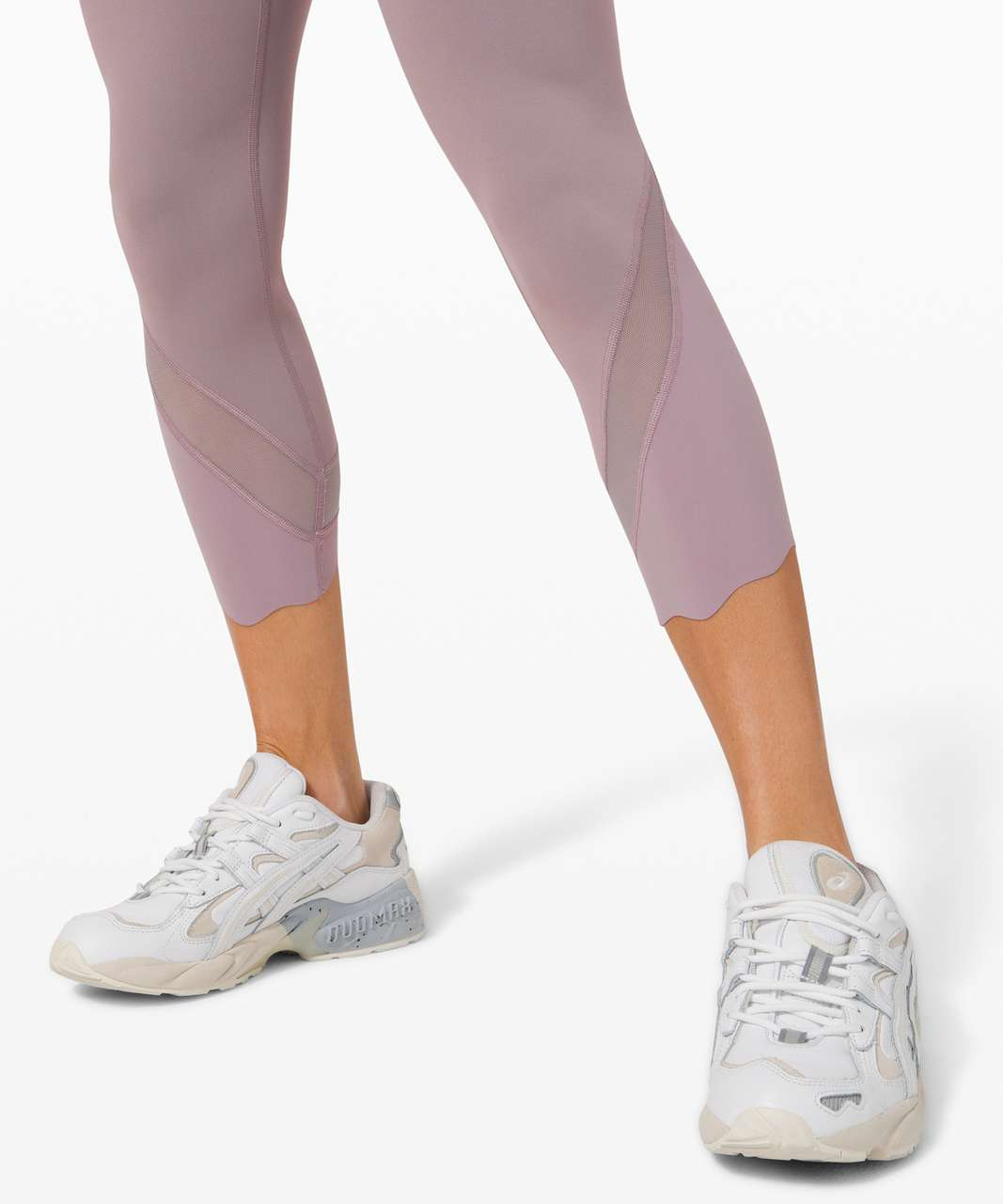 "Lululemon Wunder Under Crop High-Rise *Roll Down Scallop Full-On Luxtreme 23"" - Lunar Rock (First Release)"