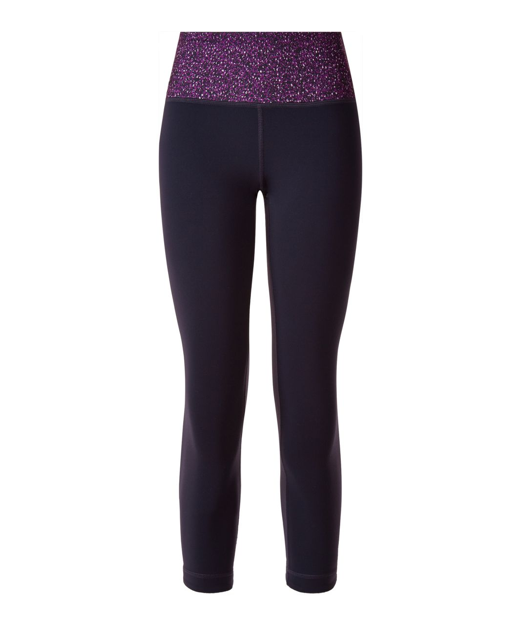 Lululemon Wunder Under Crop III (Reversible) - Black Grape / Black / Flashback Static Powdered Rose Tender Violet
