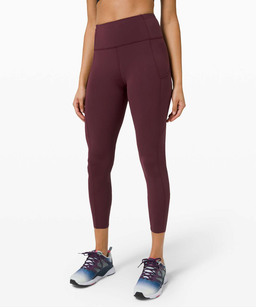 "Lululemon Fast and Free Tight II 25"" *Non-Reflective Nulux - Cassis"