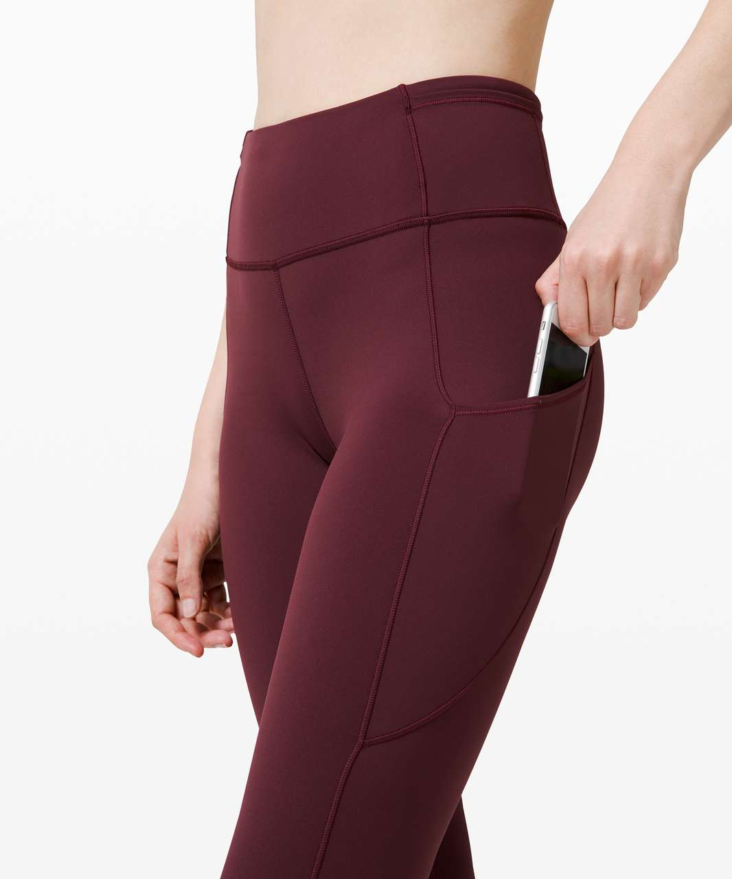 """Lululemon Fast and Free Crop II 19"""" *Non-Reflective - Cassis"""