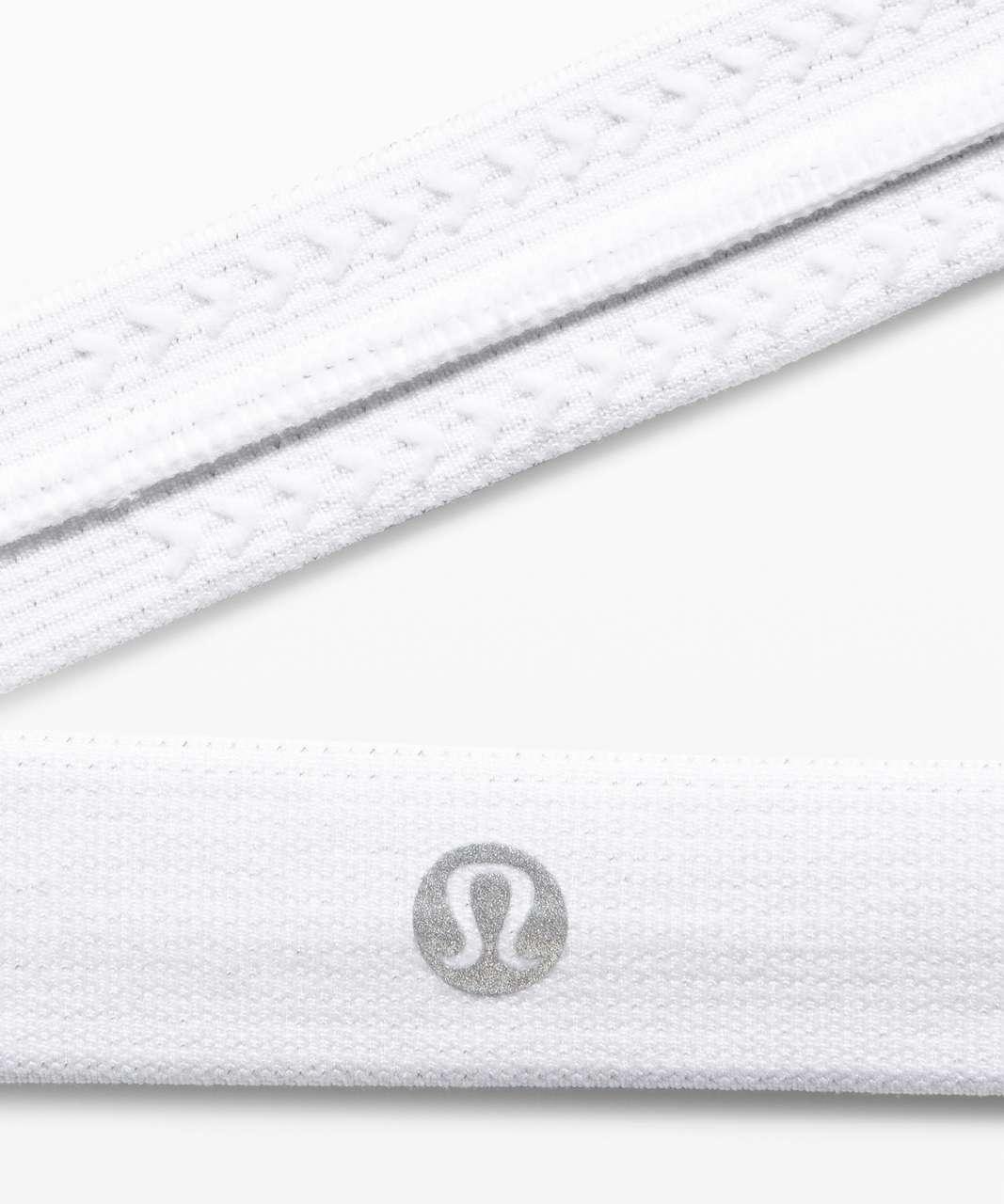 Lululemon Cardio Cross Trainer Headband - White / White