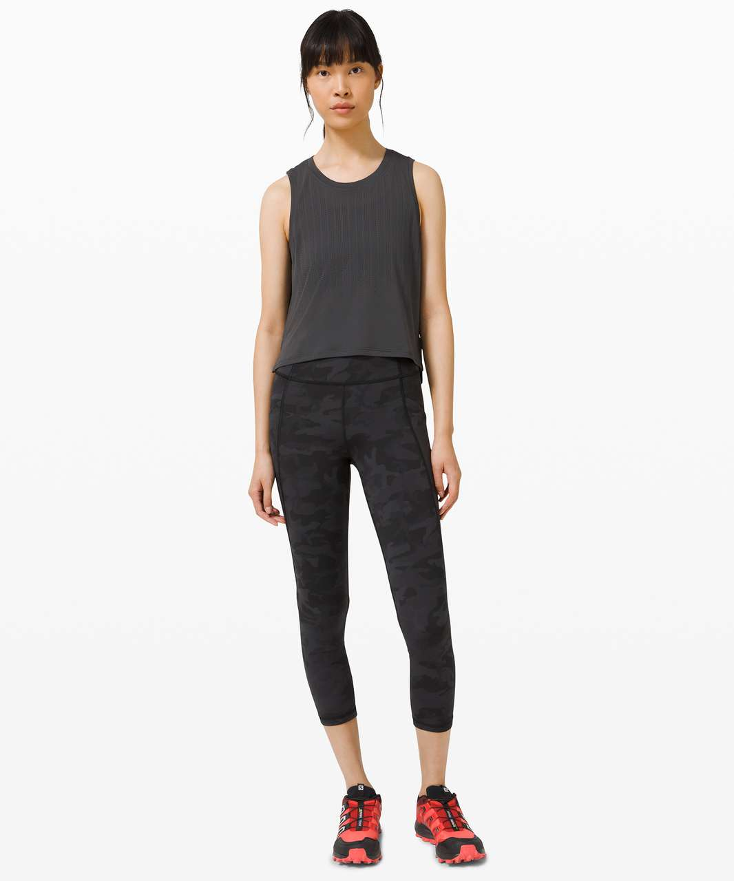 """Lululemon Time To Sweat Crop 23"""" - Incognito Camo Multi Grey"""