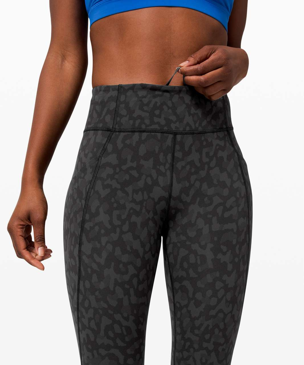 "Lululemon Time To Sweat Crop 23"" - Formation Camo Deep Coal Multi"