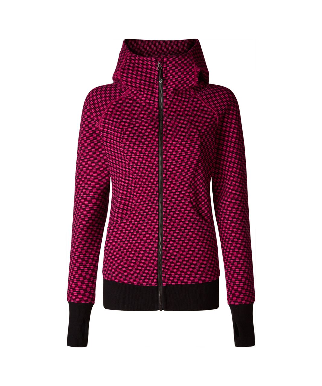 Lululemon Scuba Hoodie III - Deep Dive Berry Rumble Black / Black
