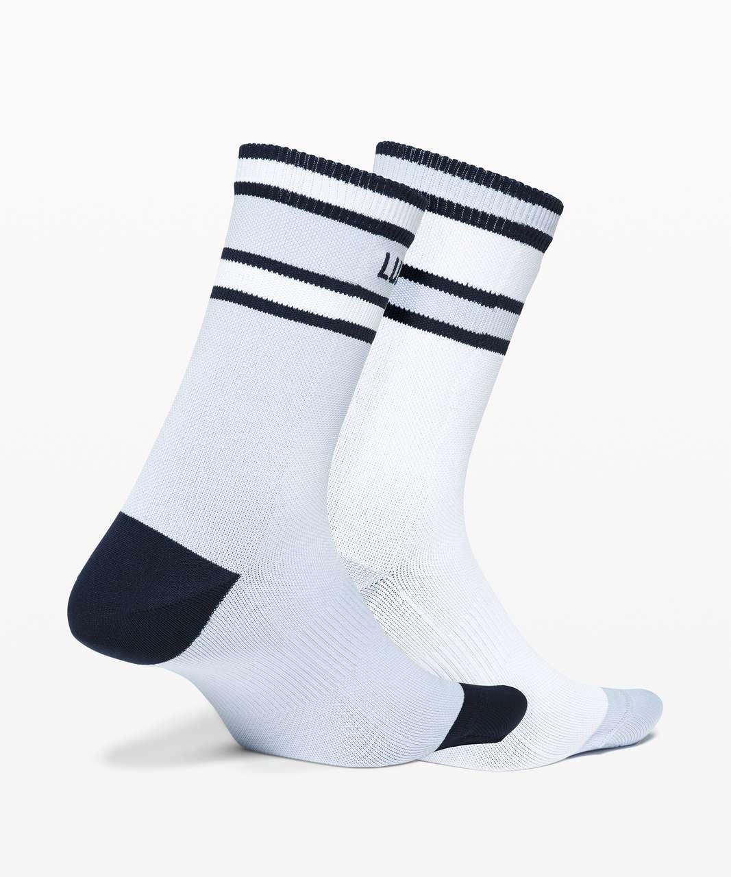 Lululemon Tale To Tell Quarter Sock* 2 Pack - White / Daydream / True Navy