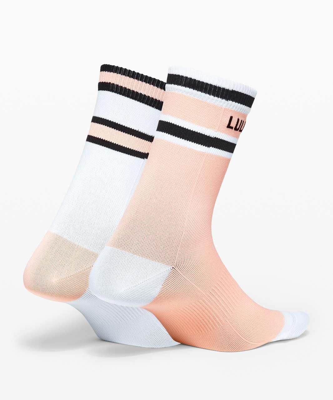 Lululemon Tale To Tell Quarter Sock *2 Pack - White / Ballet Slipper / Black