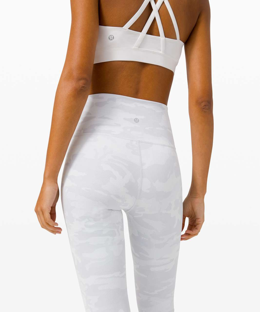 "Lululemon Wunder Under Crop (High-Rise) *Luxtreme 21"" - Incognito Camo Jacquard Alpine White Starlight"