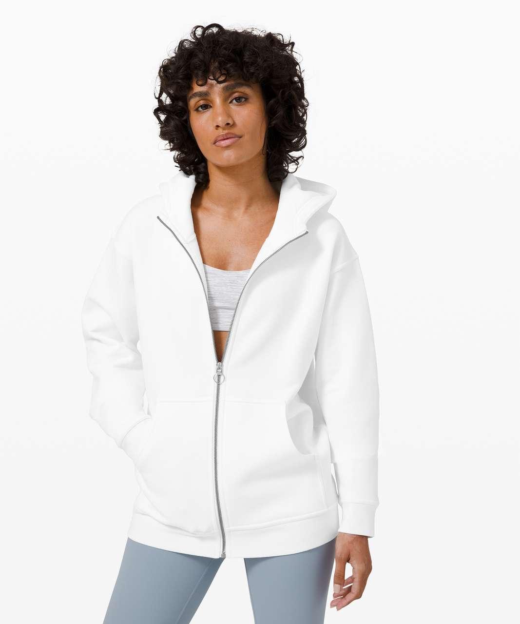 Lululemon All Yours Zip Hoodie - White