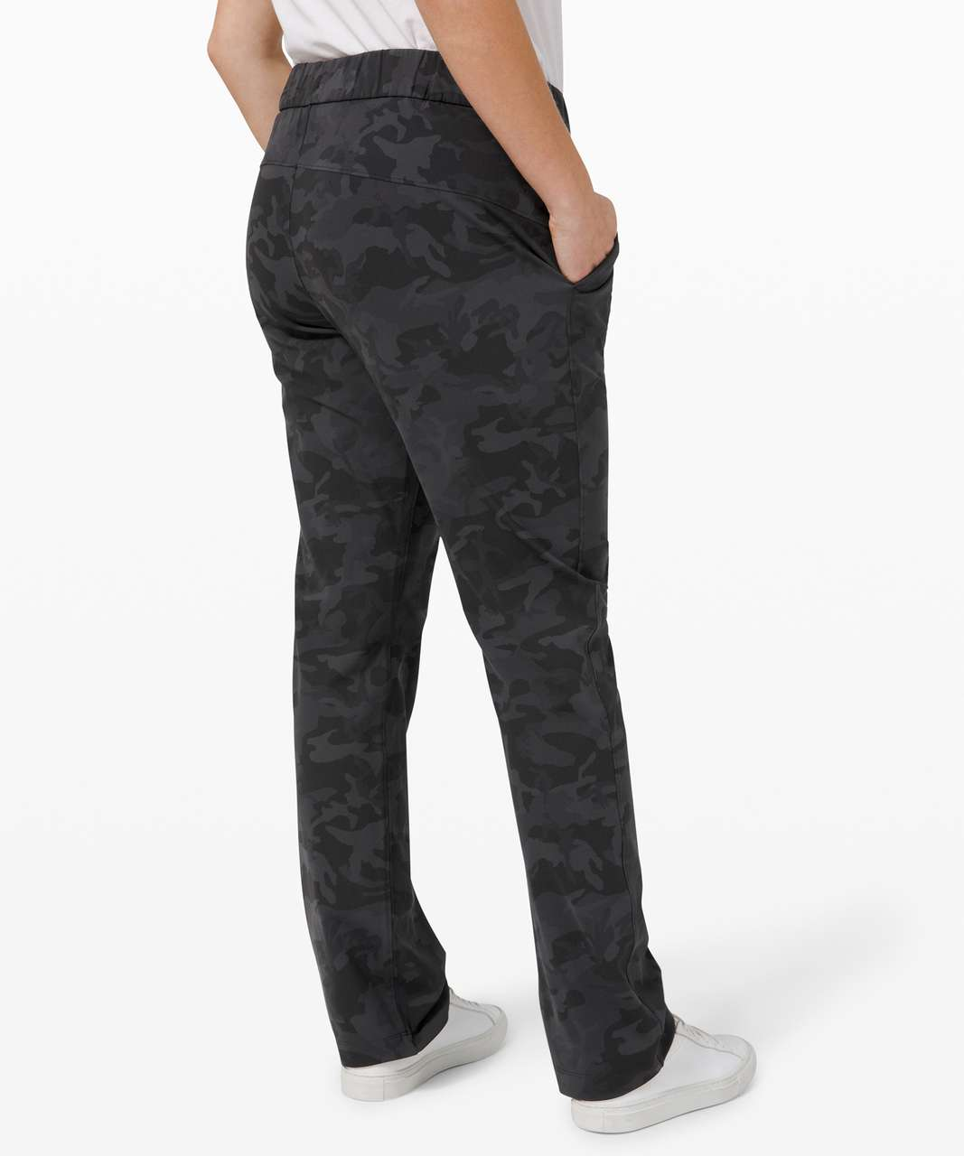 Lululemon On the Fly Pant Full Length - Incognito Camo Multi Grey