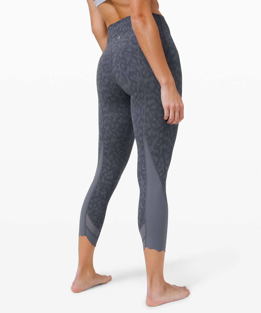 "Lululemon Wunder Under Crop High-Rise *Roll Down Scallop Full-On Luxtreme 23"" - Formation Camo Shade Multi  / Shade"