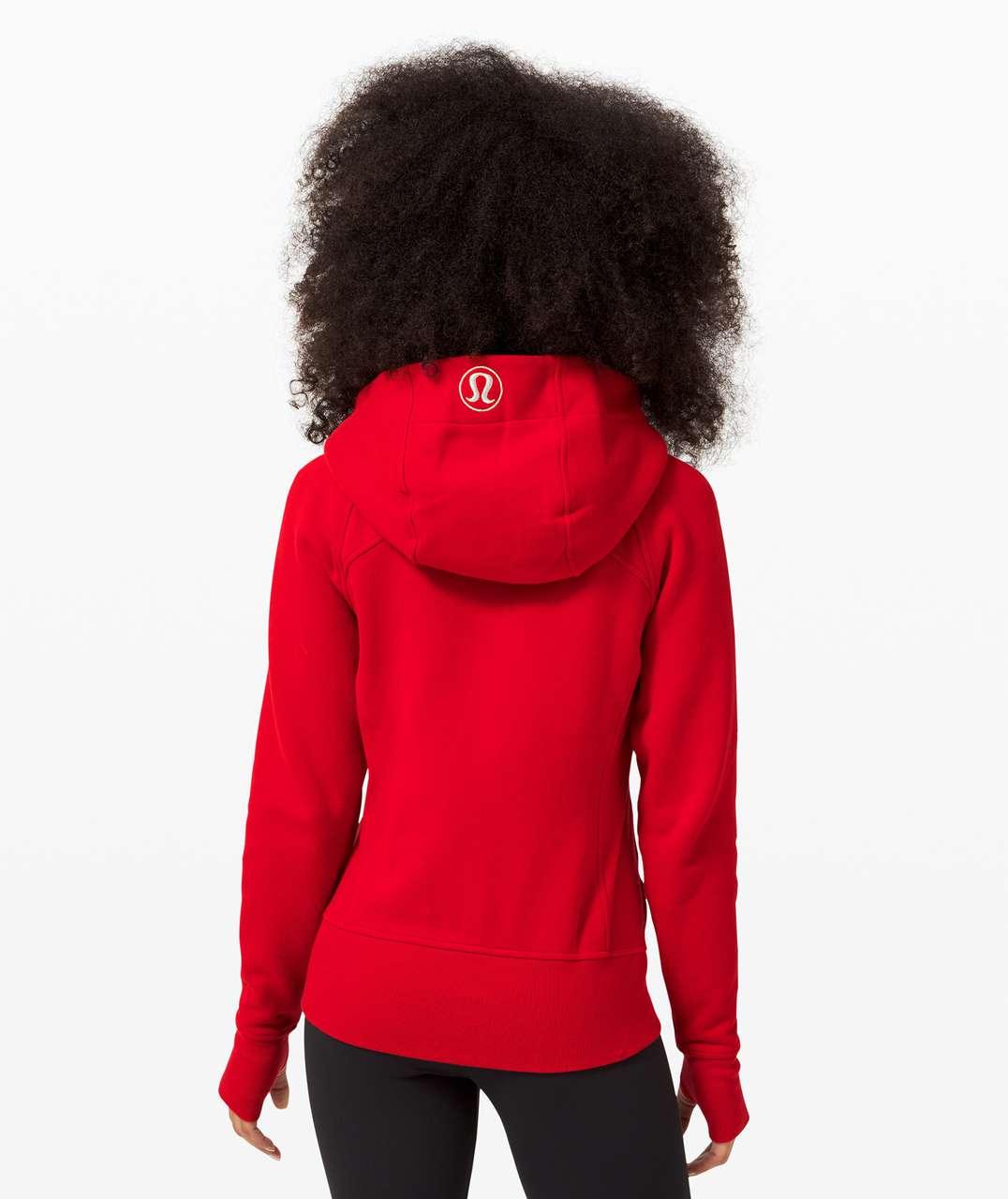 Lululemon Scuba Hoodie *Light Cotton Fleece - Dark Red / Gold