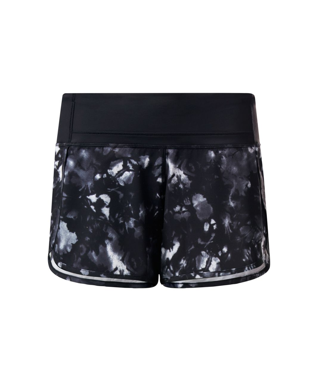 Lululemon Run Times Short - Dusk Dye White Black / Black