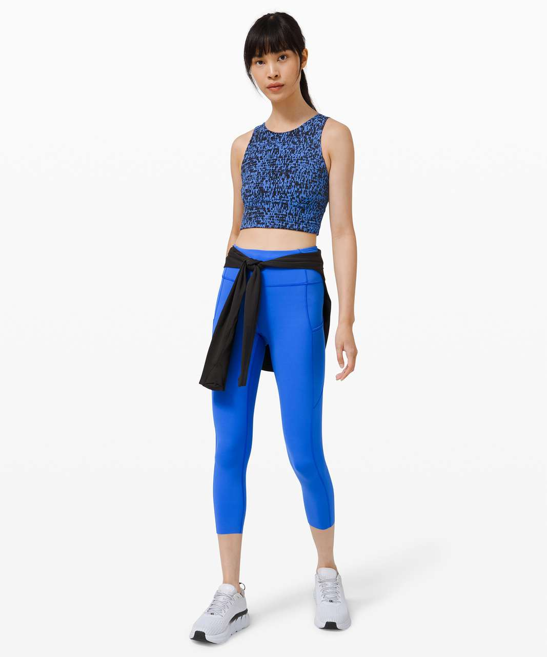 """Lululemon Fast and Free High-Rise Crop II 23"""" *Non-Reflective - Wild Bluebell"""