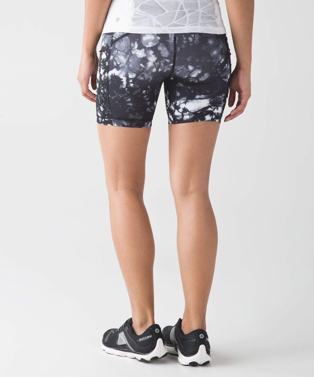 Lululemon Speed Track Short - Dusk Dye White Black