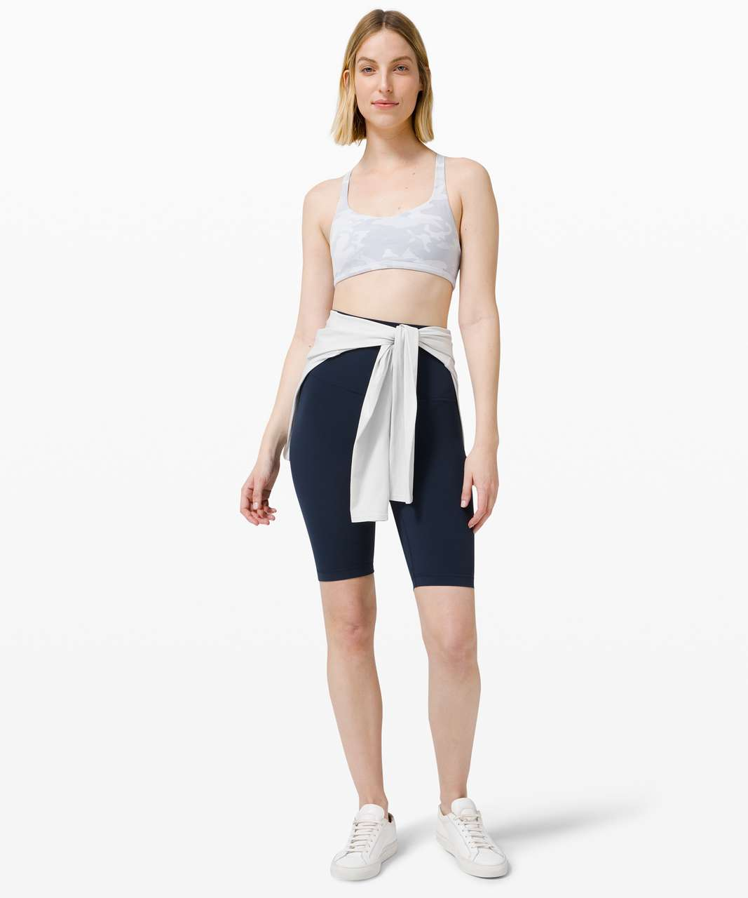 Lululemon Free To Be Bra Wild *Light Support, A/B Cup - Incognito Camo Jacquard Alpine White Starlight / White