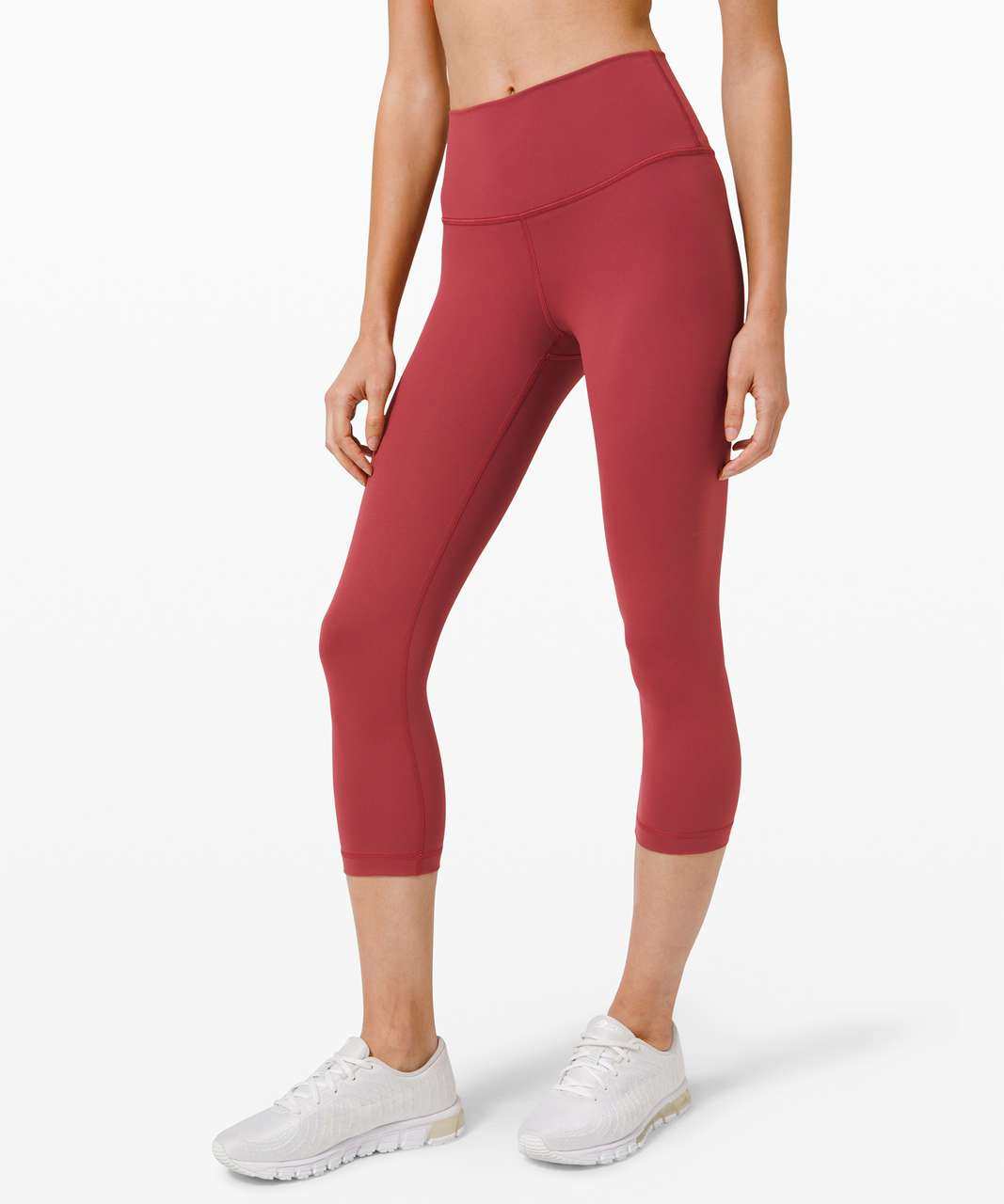 "Lululemon Wunder Under Crop (High-Rise) *Full-On Luxtreme 21"" - Chianti"