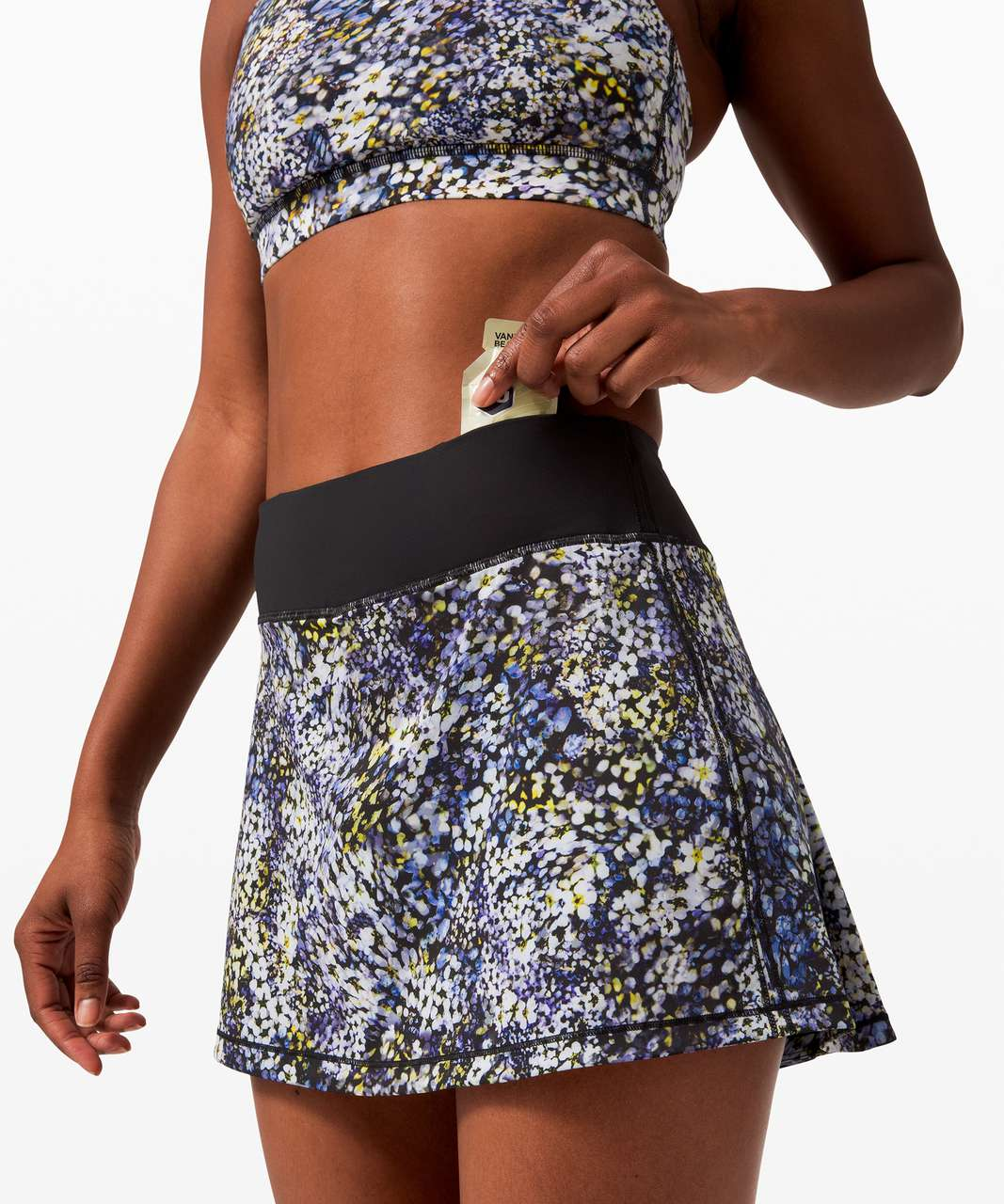 "Lululemon Pace Rival Skirt (Tall) *No Panels 15"" - Floral Metropolis Multi / Black"