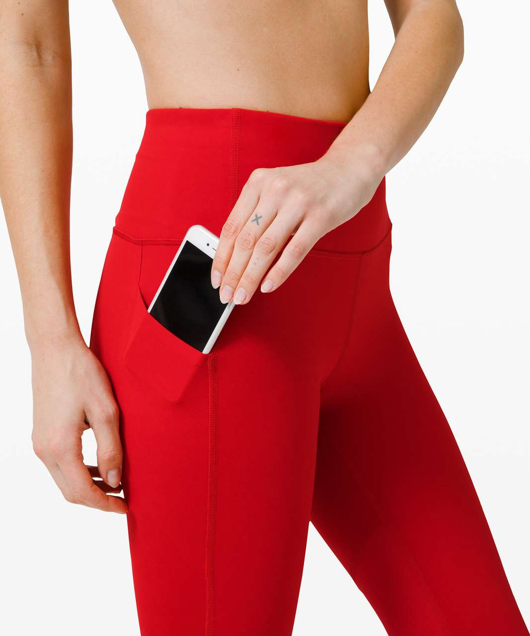 """Lululemon Pace Rival High-Rise Crop 22"""" - Dark Red"""