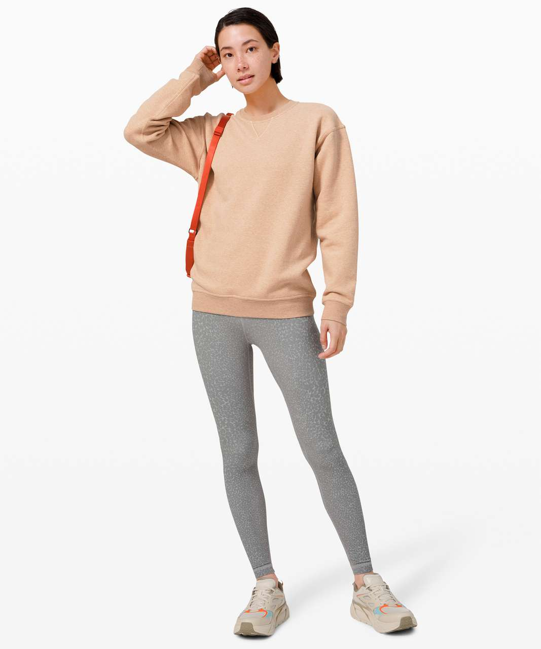 Lululemon All Yours Crew - Heathered Ivory Peach