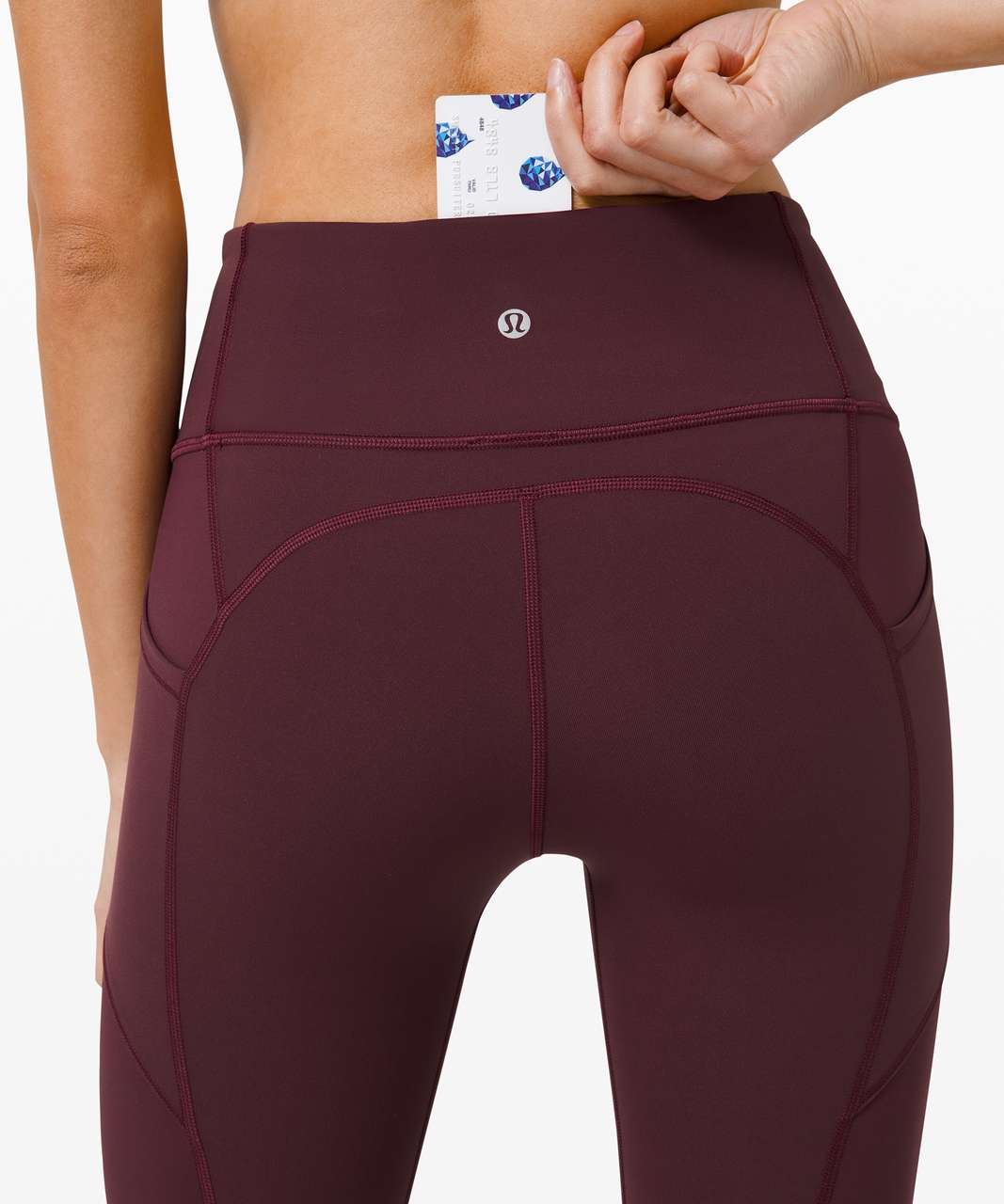 """Lululemon All The Right Places Crop II *23"""" - Cassis"""
