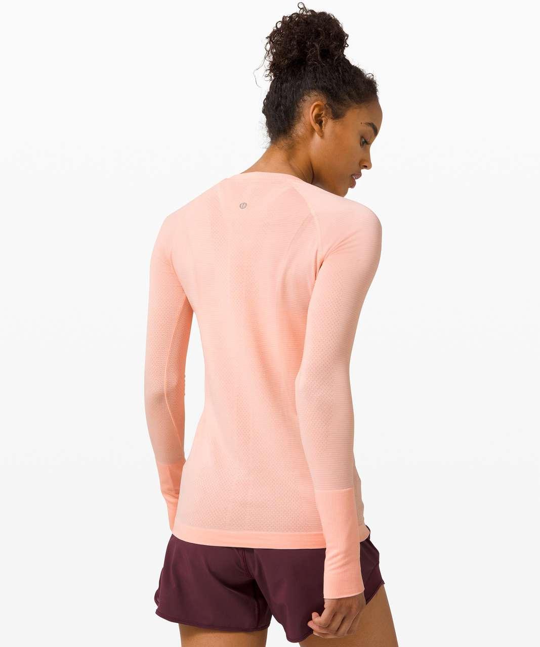 Lululemon Swiftly Tech Long Sleeve 2.0 - Ballet Slipper / White