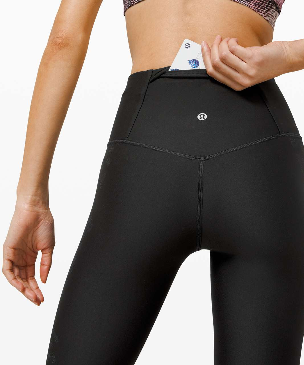 """Lululemon Mapped Out High Rise Tight 28"""" *Camo - Black / Graphite Grey"""