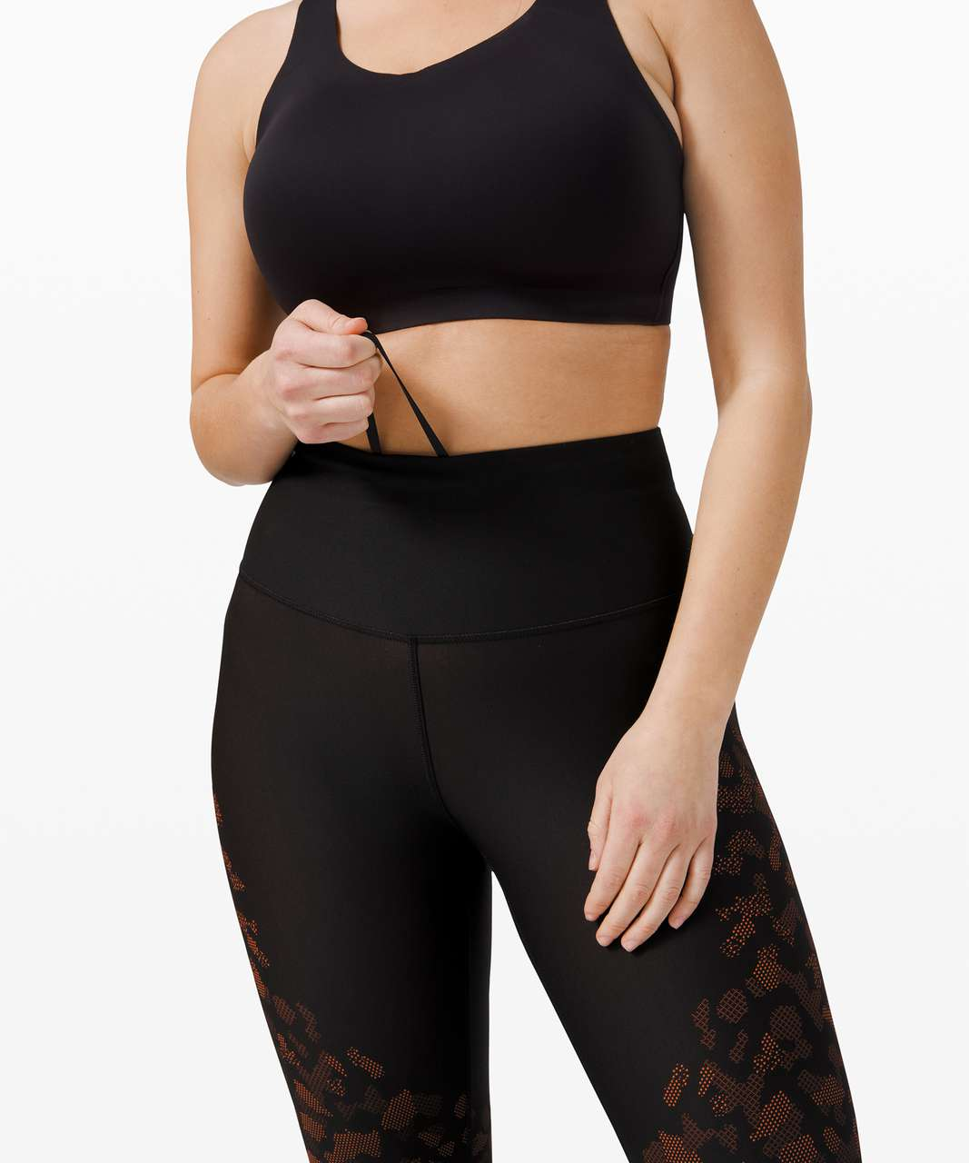 "Lululemon Mapped Out High Rise Tight 28"" *Camo - Black / Brick"